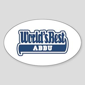 WB Dad [Urdu] Oval Sticker